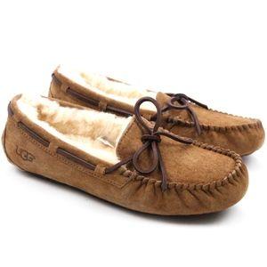 UGG Dakota Chestnut Sheepskin Moccasin Slippers
